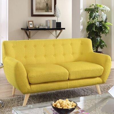 Meggie Loveseat Upholstery: Sunny