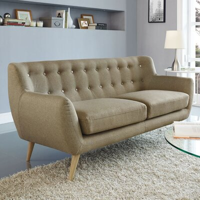 Meggie Sofa Upholstery: Brown