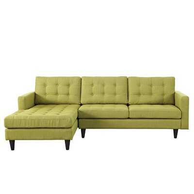 Warren Sectional Upholstery: Wheatgrass, Orientation: Left Hand Facing, Size: 36 H x 99 W x 64 D