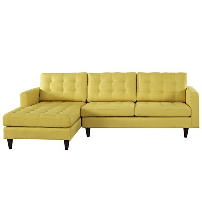 Warren Sectional Upholstery: Sunny, Orientation: Left Hand Facing, Size: 36 H x 99 W x 64 D