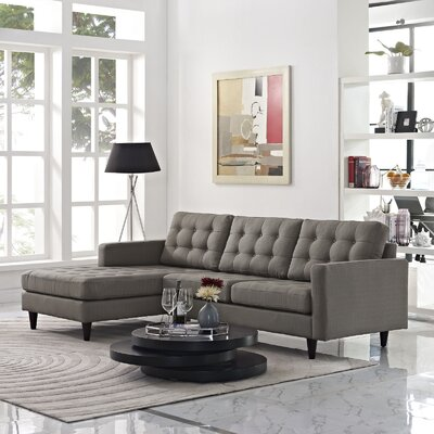Warren Sectional Upholstery: Granite