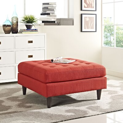 Warren Cocktail Ottoman Upholstery: Atomic Red