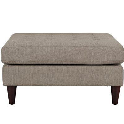 Warren Ottoman Color: Gray