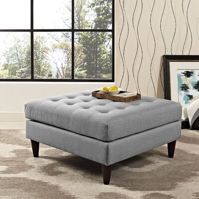 Warren Ottoman Upholstery: Light Gray