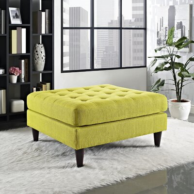 Warren Ottoman Upholstery: Wheatgrass