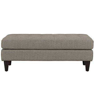 Warren Bedroom Bench Color: Granite, Size: 17.5