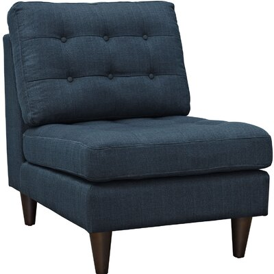 Warren Slipper Chair Upholstery: Azure