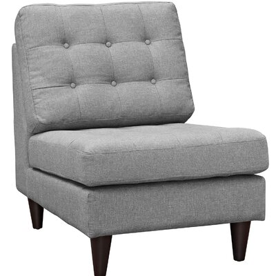 Warren Slipper Chair Upholstery: Light Gray