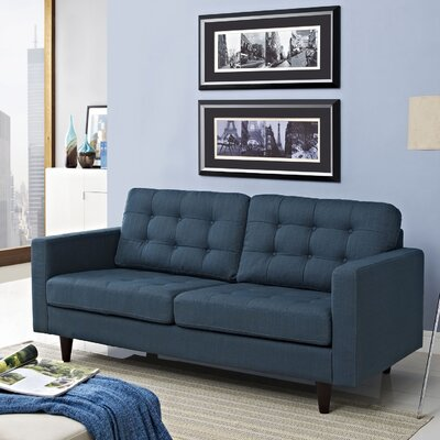 Warren Loveseat Upholstery: Azure