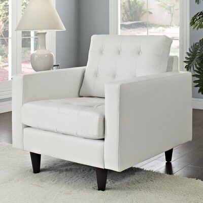 Warren Armchair Upholstery: White