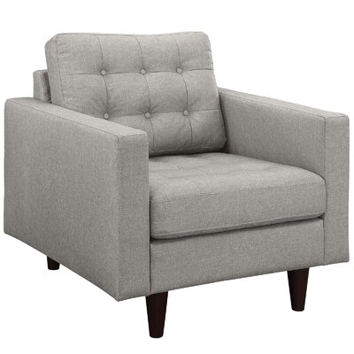 Warren Arm Chair Color: Light Grey