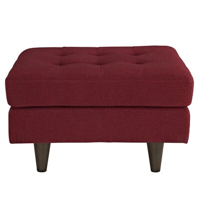Warren Cocktail Ottoman Upholstery: Red