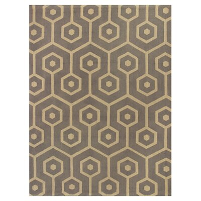 Emersyn Mosaic Slate Area Rug Rug Size: 33 x 53