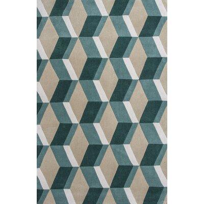 Monica Sand/Seafoam Area rug Rug Size: 79 x 99
