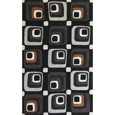 Conewango Charcoal Squares Rug Rug Size: Rectangle 5 x 76