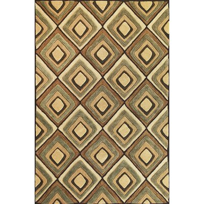 Bethesda Beige Diamonds Rug Rug Size: Rectangle 5 x 76