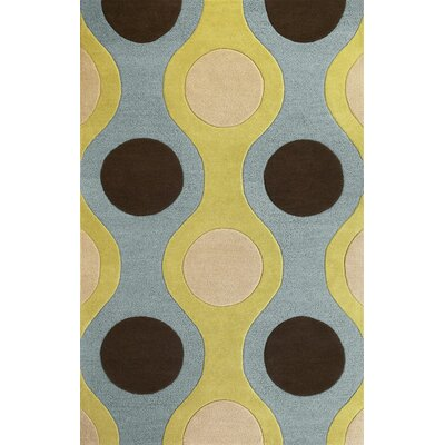 Patillo Light Blue/Citron Plasma Area Rug Rug Size: 33 x 53