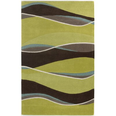 Cheston Lime/Mocha Area Rug Rug Size: 23 x 39