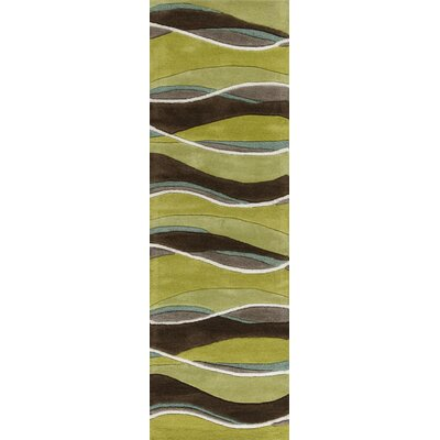 Cheston Lime/Mocha Area Rug Rug Size: Runner 23 x 76