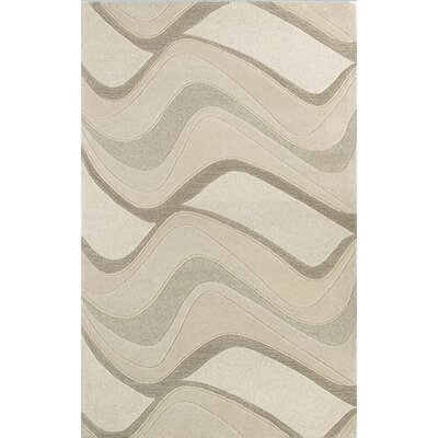 Cheston Ivory Waves Area Rug Rug Size: 33 x 53