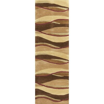 Youngston Earthtone Landscapes Area Rug Rug Size: 23 x 39
