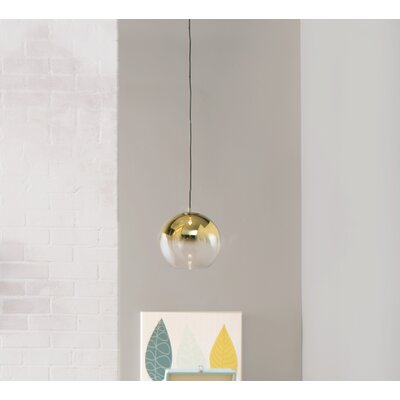 Gehry 1-Light Globe Pendant Finish: Antique Brass, Size: 11 H x 12 W x 12 D