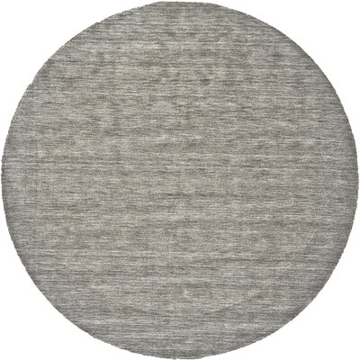 Chazy Hand-Tufted Gray Area Rug Rug Size: Round 10
