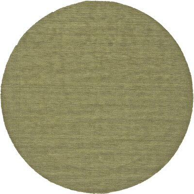 Chazy Hand-Woven Green Area Rug Rug Size: Round 8