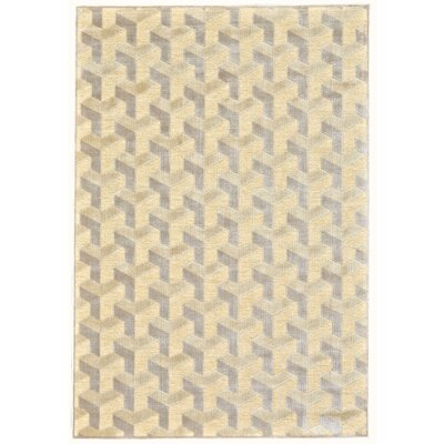 DeRuyter Cream/Silver Area Rug Rug Size: Rectangle 22 x 4