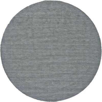 Chazy Hand-Woven Smoke Area Rug Rug Size: Round 10