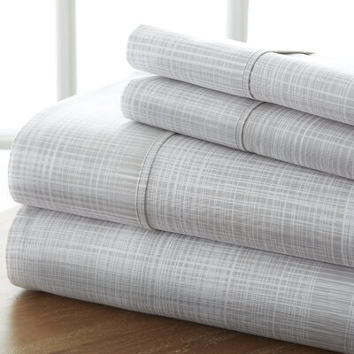 Sandspring Thatch Sheet Set Color: Gray, Size: Twin