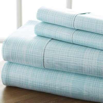 Sandspring Thatch Sheet Set Color: Aqua, Size: Queen