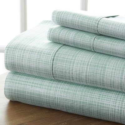 Sandspring Thatch Sheet Set Color: Forest, Size: Queen