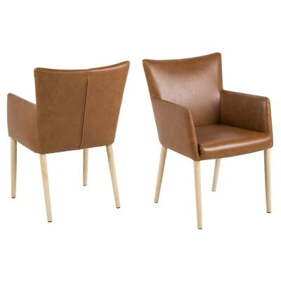 Cameron Armchair Upholstery: Brown