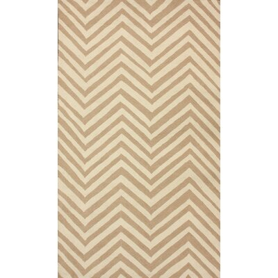 Brant Cream / Sand Chevron Area Rug Rug Size: 76 x 96