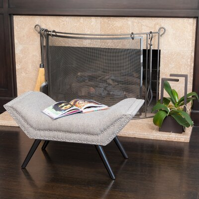 Annaghmore Upholstered Ottoman Upholstery: Granite