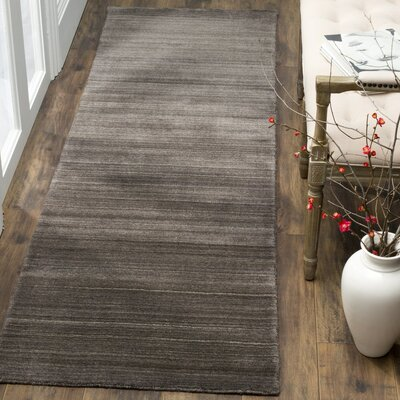 Aghancrossy Hand-Loomed Charcoal Area Rug Rug Size: Runner 23 x 8