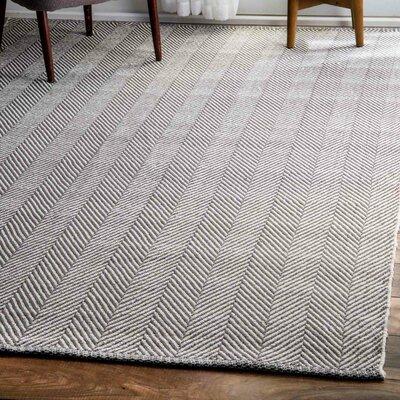 Calvert Mathew Hand-Woven Gray Area Rug Rug Size: Rectangle 3 x 5