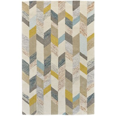 Christine Hand-Tufted Gray/Gold Area Rug Rug Size: Rectangle 8 x 11