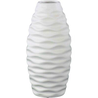Embossed Wave Vase Size: 12