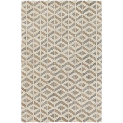 Crankill Hand-Tufted Cream/Taupe Area Rug Rug Size: 2 x 3