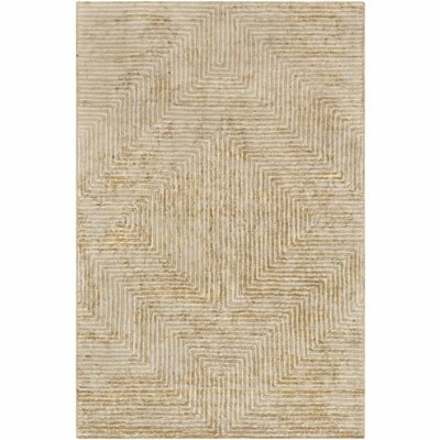 Zosia Hand-Tufted Tan/Beige Area Rug Rug Size: Rectangle 5 x 76