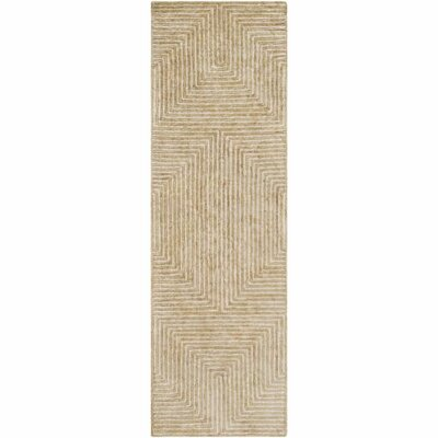 Zosia Hand-Tufted Tan/Beige Area Rug Rug Size: Runner 26 x 10
