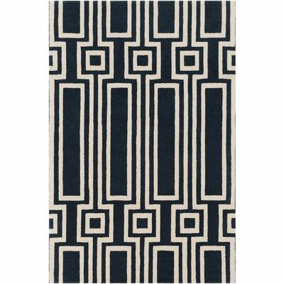 Lina Hand-Tufted Geometric Area Rug Rug Size: 5 x 76