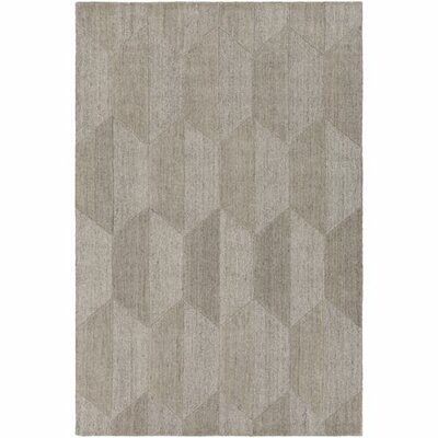 Beatrice Hand-Tufted White/Medium Gray Area Rug Rug Size: 5 x 76