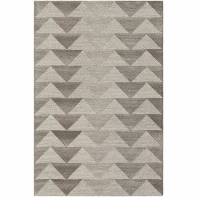 Beatrice Hand-Tufted Medium Gray/Light Gray Area Rug Rug Size: Rectangle 2 x 3
