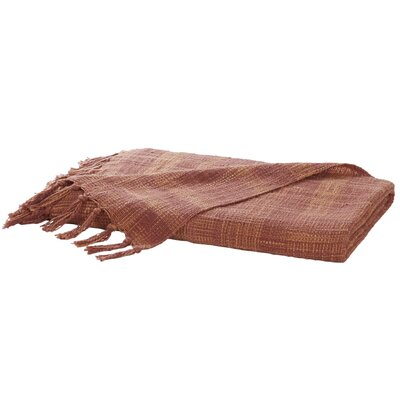 Carclunty Cotton Throw Blanket Color: Rust Red / Brick