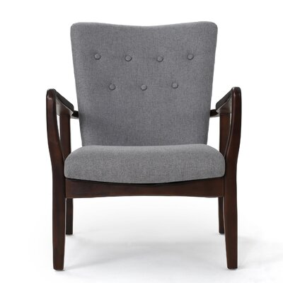 Andrew Arm Chair Upholstery: Gray