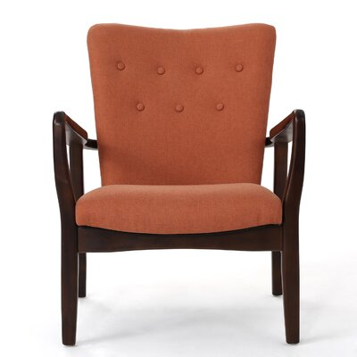 Andrew Arm Chair Upholstery: Orange