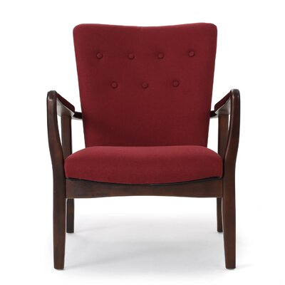 Andrew Arm Chair Upholstery: Deep Red